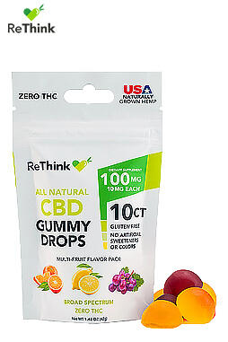 ReThink Hemp CBD Gummy Drops – 100MG