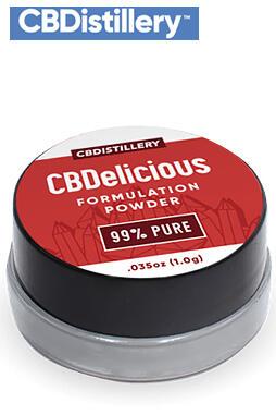 CBD Powder – 99%+ Pure CBDelicious Formulation Powder From Hemp