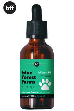 Blue Forest Farms - Organic CBD Pet Oil – 300mg Full Spectrum, Whole Plant – Natural – 30 ml / 1 fl oz