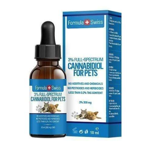 Formula Swiss -  Pet CBD Oil in Hemp Seed Oil 3% 300mg 0 THC