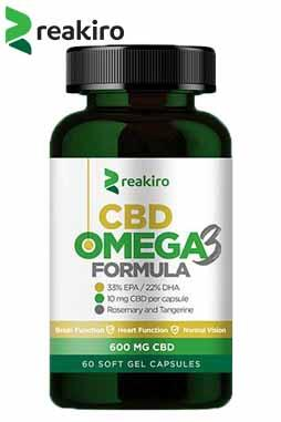 Reakiro - CBD Capsules Omega 3, 600 mg 60 pcs