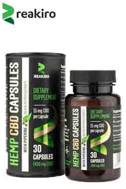 Reakiro - CBD Vegan Capsules with Piperine 450 mg