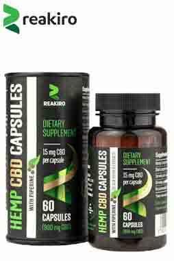 Reakiro - CBD Vegan Capsules with Piperine 900 mg
