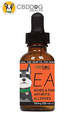 CBD Dog Health - Ease – 550 mg Full Spectrum Hemp Extract (CBD) for Dogs with Turmeric And Frankincense