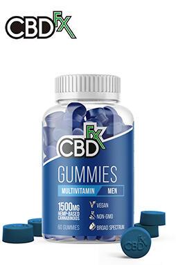 CBDfx - CBD Gummies with Multivitamin For Men 1500mg