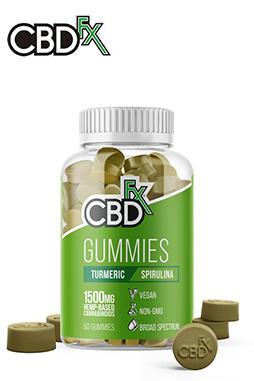 CBDfx - CBD Gummies with Turmeric & Spirulina 1500mg