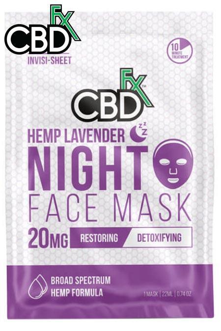 CBDfx - CBD Lavender Night Time Face Mask