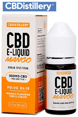 undefined - Regular Strength Broad Spectrum CBD E-Liquid – 500mg – Mango