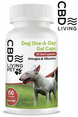 CBD Living - CBD Living Gel Capsules Dog 150 MG
