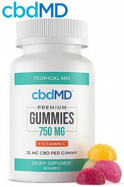 CBD Gummies - 750 mg Vitamin C - 30 Count