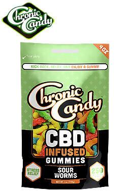 Chronic Candy - Chronic Candy Baggies - Gummies - Neon Bars 250mg