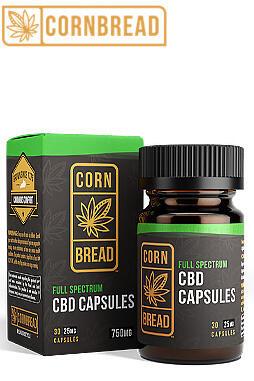 Cornbread Hemp - Full Spectrum CBD Capsules 750mg 30ct