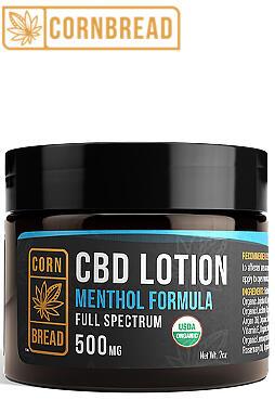 CBD Lotion + Menthol 500mg 2oz