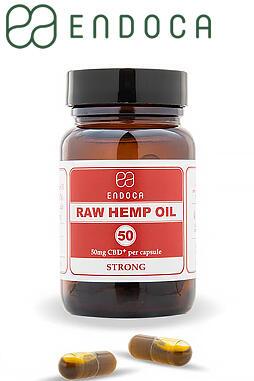 50mg Raw CBD Capsules (Strong)