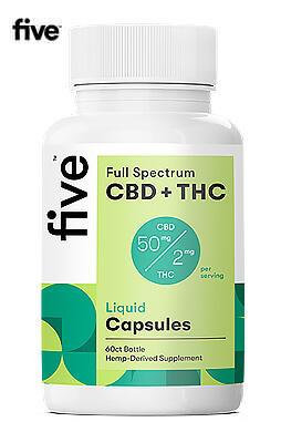 Full Spectrum CBD+THC Liquid Capsules