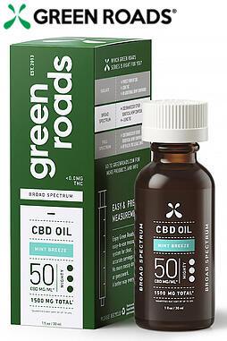 Broad Spectrum CBD Oil, 50mg/ML