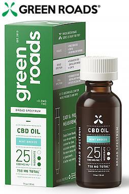 Broad Spectrum CBD Oil, 25mg/ML