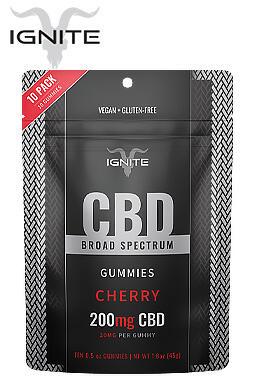 Ignite - 200mg Broad Spectrum CBD Gummies 10ct