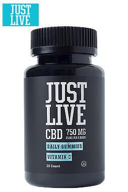 Just Live CBD - Vitamin C Gummies 750mg