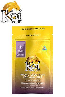 Koi CBD - CBD Edible - Sour Tropical Fruit Gummies - 10mg - 6ct