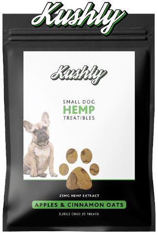 Kushly - Small Dog Hemp Treats – Apples & Cinnamon Oats