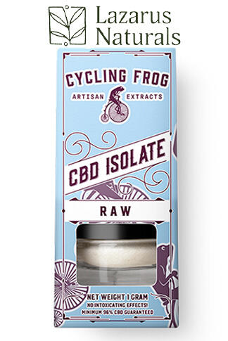 undefined - Cycling Frog Terpene Infused or Raw CBD Isolate