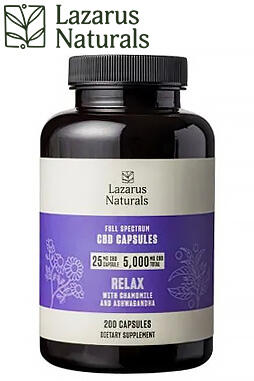 Relaxation Blend 25mg CBD Isolate Capsules 200ct