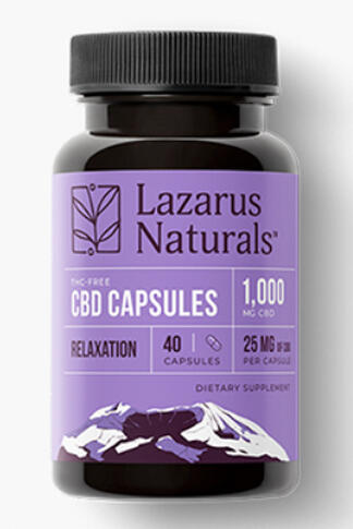 undefined - Relaxation Blend 25mg CBD Isolate Capsules 40ct