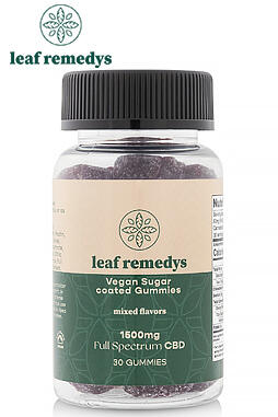 Leaf Remedys - 1500Mg Mixed Flavors Vegan CBD Gummies
