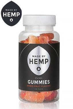 undefined - Made By Hemp – CBD Gummies 40 Pack (25mg CBD ea.)
