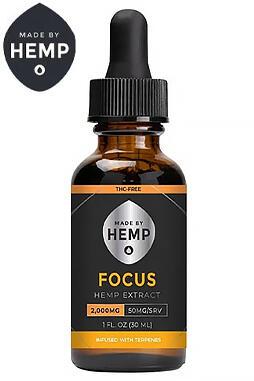 undefined - Made By Hemp – THC-Free CBD Oil Focus 1000mg