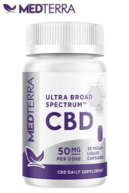 Medterra CBD - Ultra Broad Spectrum Liquid Gel Capsules
