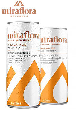 Miraflora - Sparkling CBD Beverage 35mg 4pack