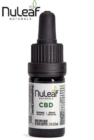 Nuleaf Naturals - 300mg Full Spectrum Hemp CBD Oil, 5mL (60mg/mL)