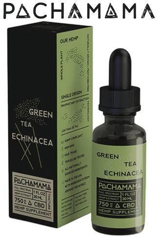 Pachamama - Pachamama - CBD Tincture - Green Tea Echinacea - 1750mg