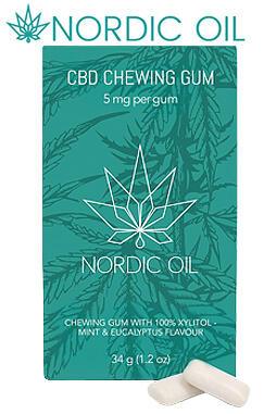 Nordic Oil - CBD Chewing Gum (5mg CBD/piece)