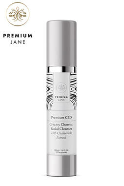 undefined - CBD Creamy Charcoal Facial Cleanser – 200 mg CBD