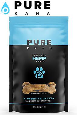 Pure Kana - Hemp Dog Treats (Large Dog) – Blueberry & Chicken