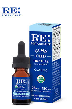 undefined - Hemp 25mg Classic Tincture – 6ml (Trial Size)