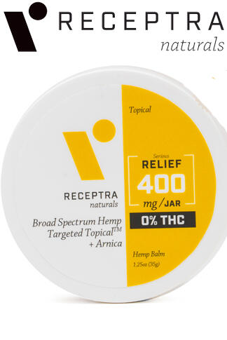 Receptra Naturals - Serious Relief + Arnica Targeted Topical 0% Thc