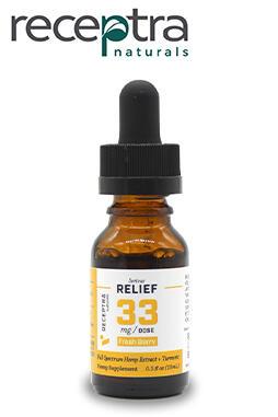 Receptra Naturals - Serious Relief + Turmeric Tincture 33mgdose (0.5oz)