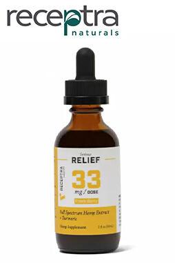 Receptra Naturals - Serious Relief + Turmeric Tincture 33mg/dose (2oz)