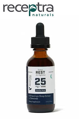 Receptra Naturals - Serious Rest + Chamomile Tincture 25mg /dose (2 oz.)