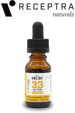 undefined - Serious Relief + Turmeric Tincture 33mgdose (0.5oz)