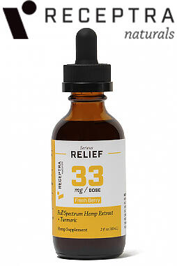undefined - Serious Relief + Turmeric Tincture 33mg/dose (2oz)
