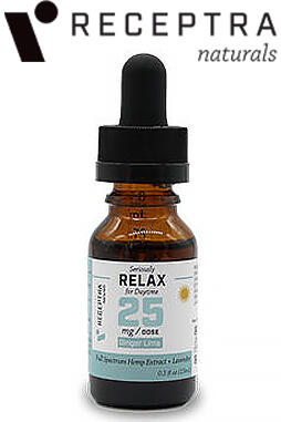 undefined - Serious Relax + Lavender Tincture 25mg /Dose (0.5 oz.)