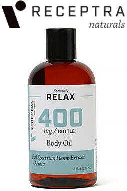 undefined - Seriously Relax + Arnica Body Oil-400mg (8oz)
