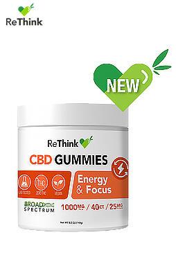 ReThink CBD Gummy Drops – Energy & Focus – 1000MG