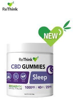 CBD ReThink - ReThink CBD Gummy Drops – Sleep – 1000MG