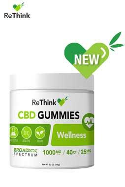 CBD ReThink - ReThink CBD Gummy Drops – Welness- 1000MG